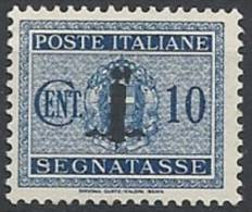 1944 RSI SEGNATASSE 10 CENT MNH ** - RSI114-2 - 4. 1944-45 Social Republic