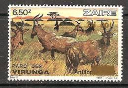 Zaire / Congo Kinshasa / RDC - NON EMIS / UNISSUED - Surcharge RENVERSEE 100NZ Sur COB 1160 - MNH / ** 1994 - Faune - Zaïre