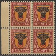 Svizzera 1918 Nuovo** - Yv.168  Mi.143  Bloc 4x - Svizzera