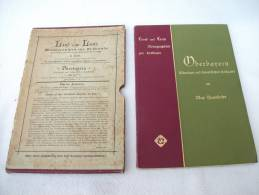 """""""Oberbayern, München Und Bayerisches Hochland"""" Monographien Zur Erdkunde Von Max Haushofer (im Orig. Schuber) - München"""