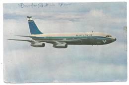 CPSM Boeing 720 B Israel Airlines El Al Datée De 1963 Un Nom Annoté Sur La Carte En état Moyen - 1946-....: Moderne