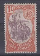 Cote Des Somalis: Yvert  Nr 50  , MH/* CV Maury € 40 - French Somali Coast (1894-1967)