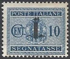 1944 RSI SEGNATASSE 10 CENT MH * - RSI120-3 - 4. 1944-45 Social Republic