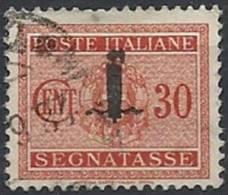 1944 RSI USATO SEGNATASSE 30 CENT - RSI122-2 - 4. 1944-45 Social Republic