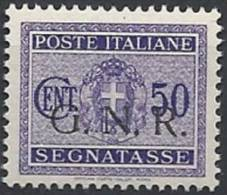 1944 RSI GNR BRESCIA I TIRATURA SEGNATASSE 50 CENT MNH ** - RSI113-3 - 4. 1944-45 Social Republic