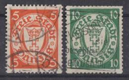 Danzig Minr.193D, 194D Gestempelt - Danzig