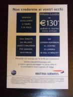 British Airways Airlines Carte Postale - 1946-....: Moderne