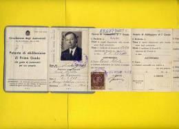 PATENTE DI GUIDA CON MARCHE DA BOLLO-CAMPI SALENTINA-- BARI-ANNO 1935 - Bari