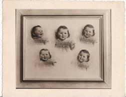 SUPER PHOTO Photo Montage 145 X 115mm - Visage D'ENFANT -Fillette En Multi-Pause - TRUCAGE PHOTOGRAPHIQUE - - Foto