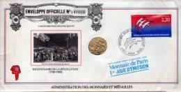 MDP PTT 1er Jour D'Emission : Bicentenaire De La Révolution 1789-1989 - France