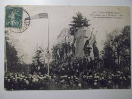 Cpa Coulmiers Loiret Anniversaire Du 9 Novembre 1870 Les Autorités Devant L'ossuaire 1911 - DU01 - Coulmiers