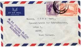 BURMA / MYANMAR - AIR MAIL COVER TO GERMANY 1958 - Myanmar (Burma 1948-...)