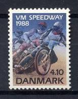 Dänemark - Denmark 1988   Mi. 925 ** MNH   Speedway-Weltmeisterschaf T   Speedway-Rennen - Denemarken