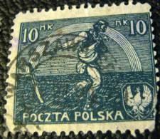 Poland 1921 Figure 10m - Used - 1919-1939 Republic