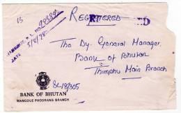 BHUTAN/BHOUTAN - REGISTERED COVER 1998 / THEMATIC STAMP-W.H.O. - Bhutan