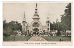 REIMS - Entrée Et Façade Principales De L´Exposition - Carte Colorisée - Carte Vierge - Reims