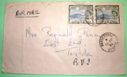 St. Christopher Nevis Anguilla 1958 Cover To Tortola British Virgin Islands - West Indies