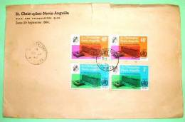 St. Christopher Nevis Anguilla 1966 Cover From Basseterre - WHO New Building - West Indies