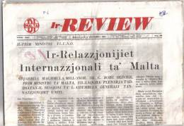 MALTA - ( IR - REVIEW ) FULL NEWS PAPER / 16 DICEMBER 1964 / - Zeitungen & Zeitschriften
