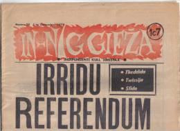 MALTA - ( IN- NIGGIEZA ) FULL NEWS PAPER /   1st SEPTEMBER  1972 / - Boeken, Tijdschriften, Stripverhalen