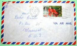 St. Christopher Nevis Anguilla 1969 Cover To Montserrat - Flower - West Indies