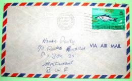 St. Christopher Nevis Anguilla 1969 Cover To Montserrat - Fish - West Indies