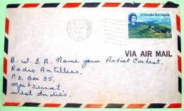 St. Christopher Nevis Anguilla 1969 Cover To Montserrat - Mountain Volcano - West Indies