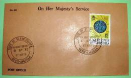 St. Christopher Nevis Anguilla 1970 Cover From Basseterre St. Kitts - Coin Money Spanish - West Indies