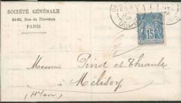 Socjété Générale - Lettre De 1886 - Succursale De Besançon - Banks