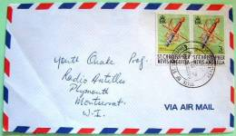 St. Christopher Nevis Anguilla 1975 Cover To Montserrat - Spade Weapon - West Indies