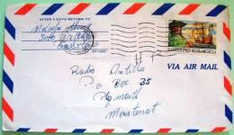 St. Christopher Nevis Anguilla 1978 Cover To Montserrat - Ship - West Indies
