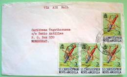 St. Christopher Nevis Anguilla 1978 Cover To Monserrat - Spade From Ship - Rapier - West Indies
