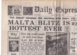 MALTA - (   DAILY EXPRESS   ) FULL NEWS PAPER /  27 MARCH 1942 - Krieg/Militär