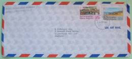 St. Christopher Nevis Anguilla 1980 Official Cover To England UK - Beach - TV Industry - West Indies