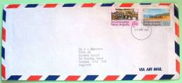 St. Christopher Nevis Anguilla 1980 Official Cover To England UK - Beach - Hotel - Beach TV Industry - West Indies