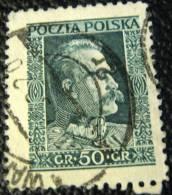 Poland 1928 Pilsudski 50g - Used - 1919-1939 Republik