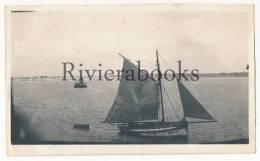 P53 - Beau bateau voilier des Sables d'Olonne vers 1930 - 1 photo originale
