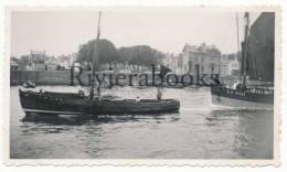 P53 - Beau bateaux voiliers port des Sables d'Olonne vers 1930 - 1 photo originale