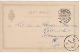 706. Denmark, 1893, Postcard - 1864-04 (Christian IX)