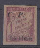 Cote D´Ivoire: Yvert Collis Posteaux 14 , MH/*, CV Maury € 50 - Elfenbeinküste (1892-1944)