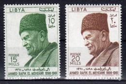 8.7.1962, Ahmed El Mehdawi,  Y&T  No. 209 + 210 / Michel- No. 120 + 121, Neuf ** , Lot 37382 - Libye
