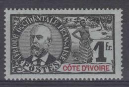 Cote D´Ivoire: Yvert 33 , MH/*, CV Maury € 50 - Elfenbeinküste (1892-1944)