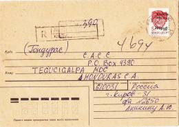 Registered Cover Kirov To Honduras 1993( Local Stamp) - 1992-.... Fédération