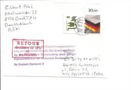 Bund Postkrieg-Beleg M. GAA N. Polen Verwendet - BRD