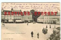 23 - GUERET < Edition 1900 De Nussac N° 221 - Coiffeur + Librairie + Café De La Poste Sur La Place Bonnyaud - Dos Scanné - Guéret