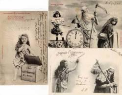 BERGERET - 3 CPA - Années 1901-1902  - 1904-1905  - 1904 ( Surprises De La Nouvelle Année)(50017) - Autres
