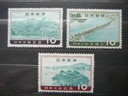 Japan 1960 ** MNH #Mi. 720/2  Cultural Institutions - 1926-89 Emperor Hirohito (Showa Era)