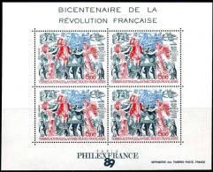 TAAF, BF N° 1. Bicentenaire De La Révolution Française, 1989. Feuillet De 4 Timbres PA N° 108. - Blocs-feuillets