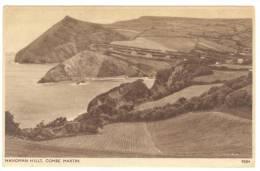 G1099 Combe Martin - Hangman Hills - Old Mini Card / Viaggiata 1944 - Inghilterra