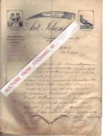 Lettre De 1903 - ARBREFONTAINE - Ant. JEHENSON - Faulx Et Piquets - Maarques Déposées Au Pigeons Et Les Campinoises - Bélgica